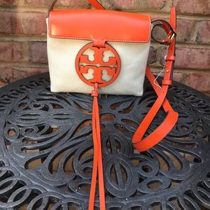 NEW Tory Burch Canvas Miller Crossbody bag purse